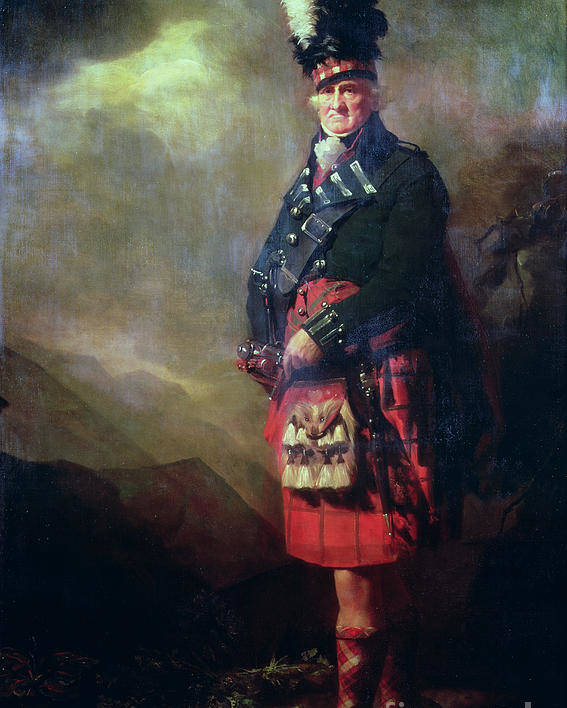 Kilt Poster featuring the painting The Macnab by Sir Henry Raeburn