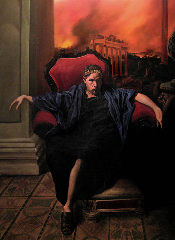 Figurative Art Poster featuring the painting The Madness Of Nero by Eric Armusik