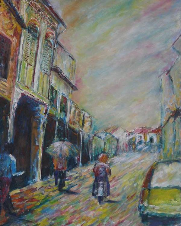 People Poster featuring the painting The Malacca Street by Wendy Chua