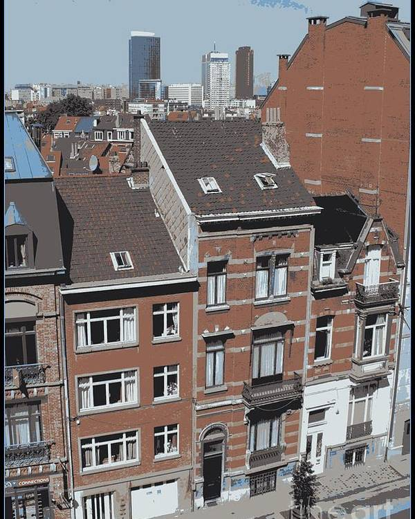 Brussels Poster featuring the photograph The Many Layers Of Brussels by Carol Groenen
