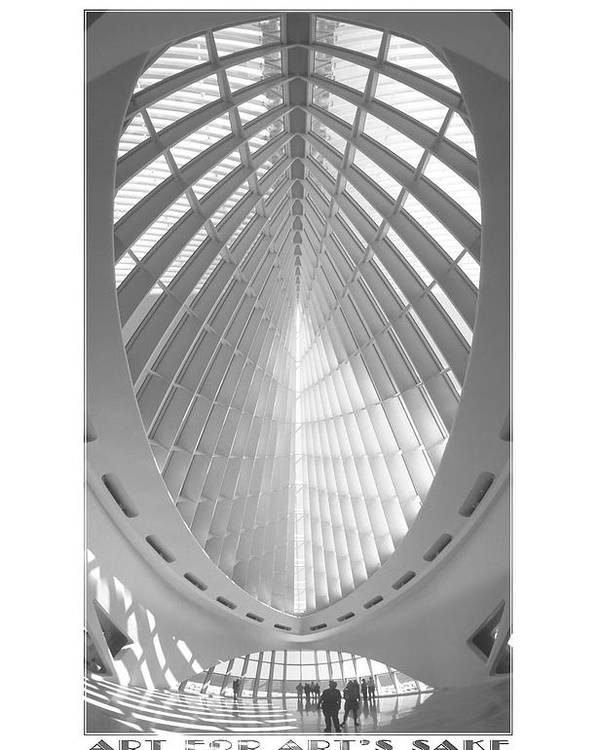 Unusual Architecture Poster featuring the photograph The Milwaukee Art Museum by Mike McGlothlen