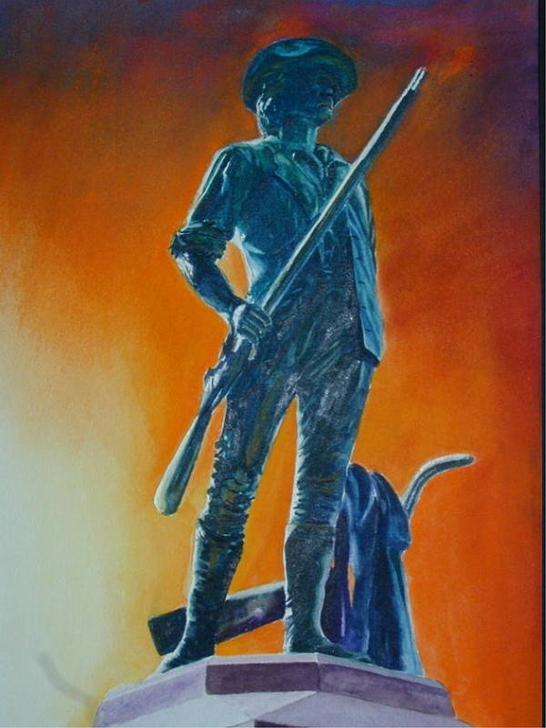 Patriot Poster featuring the painting The Minuteman by Dwight Williams