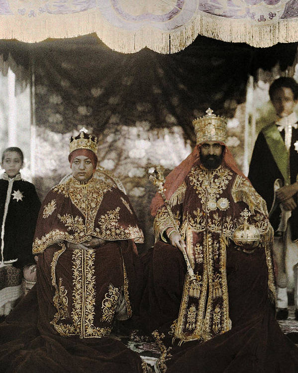 Day Poster featuring the photograph The Monarchs Haile Selassie The First by W. Robert Moore