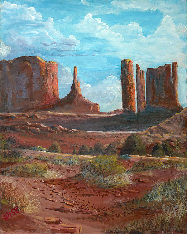 Towers Poster featuring the painting The Monuments by John Wise