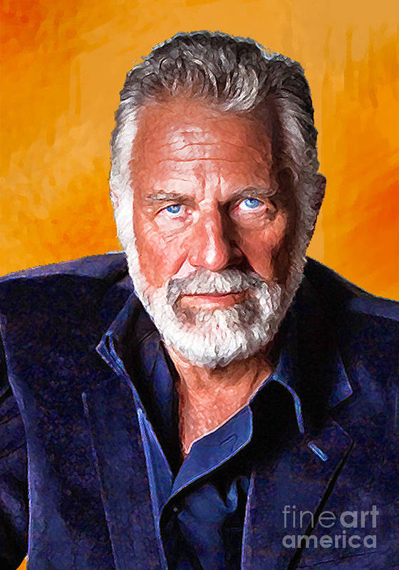 Portrait Paintings Poster featuring the painting The Most Interesting Man In The World II by Debora Cardaci