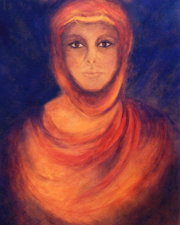 Woman Poster featuring the painting The Oracle by Marina Petro
