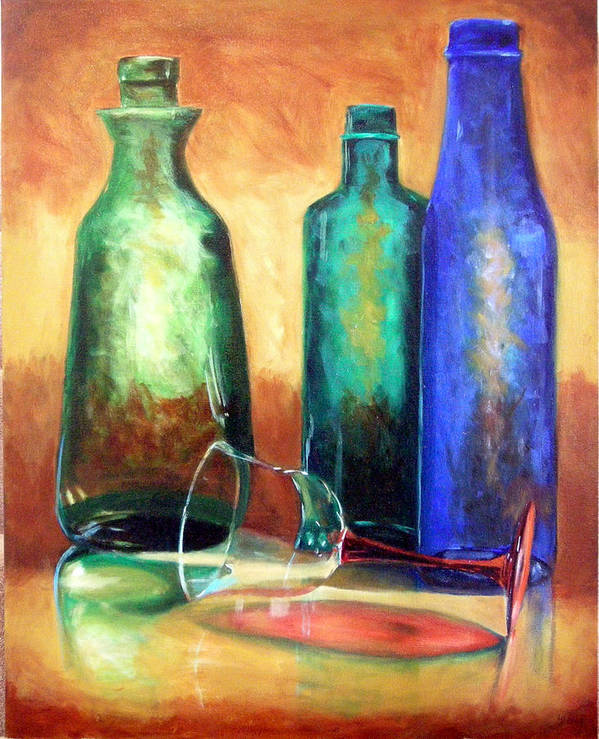 Oil Poster featuring the painting The Party's Over by Linda Hiller