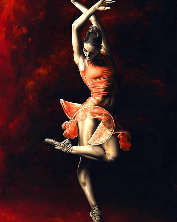 Dancer Poster featuring the painting The Passion Of Dance by Richard Young