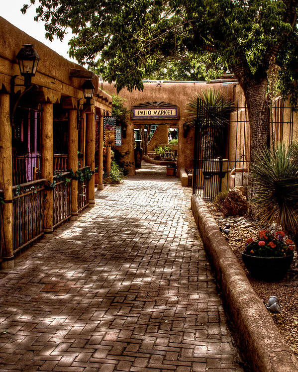 New Mexico Poster featuring the photograph The Patio Market by David Patterson