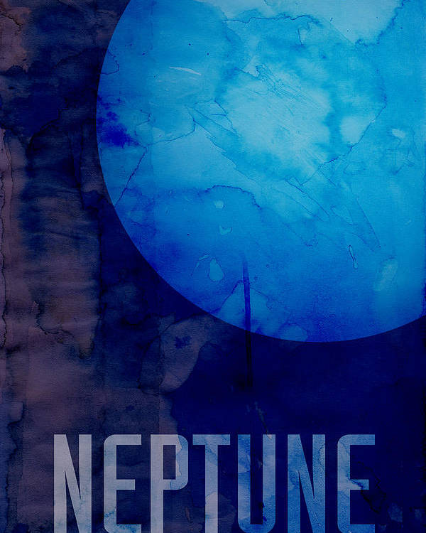 Neptune Poster featuring the digital art The Planet Neptune by Michael Tompsett