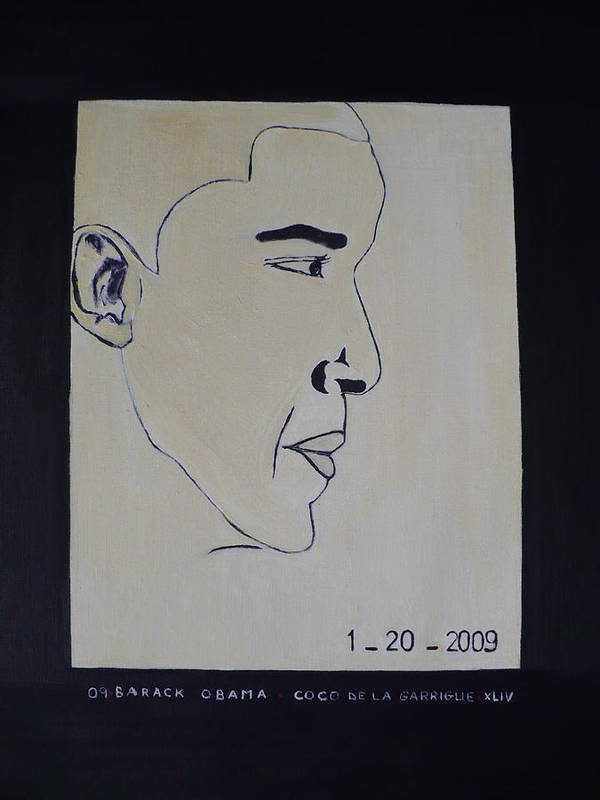 The Dream Come Truth. Poster featuring the painting The President Barack Obama. by Bucher