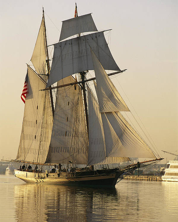 North America Poster featuring the photograph The Pride Of Baltimore Clipper Ship by George Grall