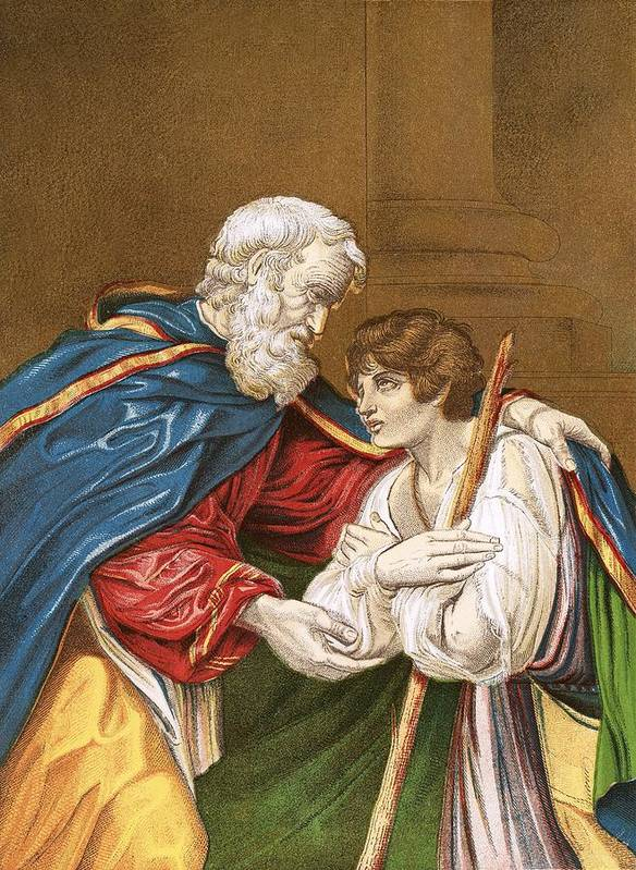 Bible Poster featuring the painting The Prodigal Son by English School