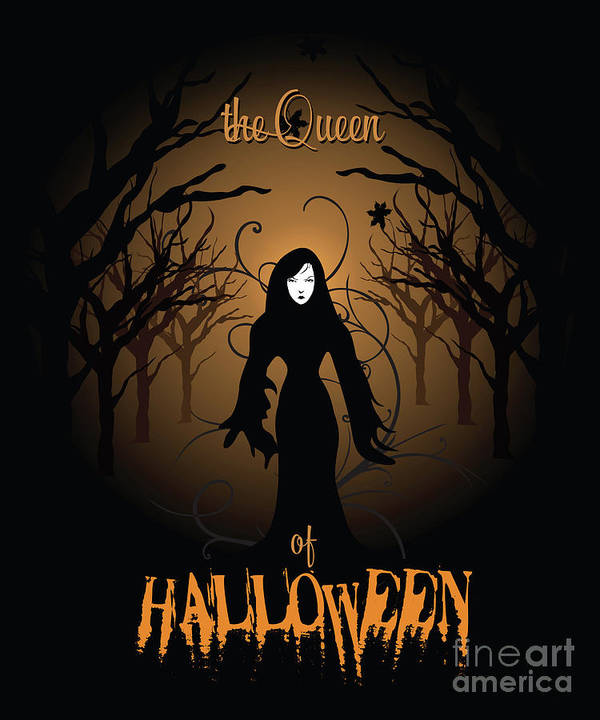 Halloween Poster Art.The Queen Of Halloween Witchy Woman Poster