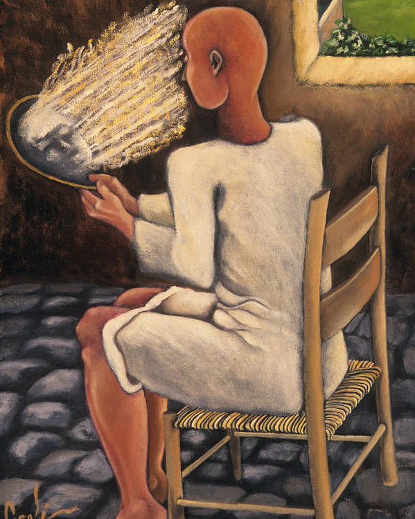 Figurative Poster featuring the painting The Real Image by Gloria Cigolini-DePietro