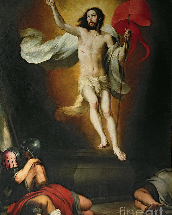 The Poster featuring the painting The Resurrection Of Christ by Bartolome Esteban Murillo