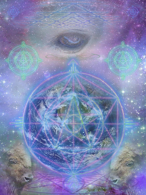 Cosmic Poster featuring the digital art The Return by Jahsah Ananda