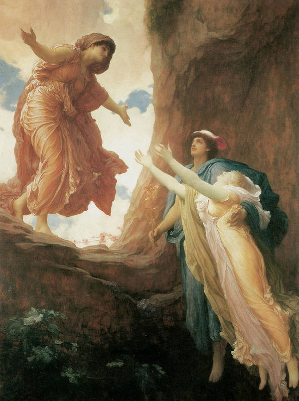 Frederick Leighton Poster featuring the painting The Return Of Persephone by Frederick Leighton