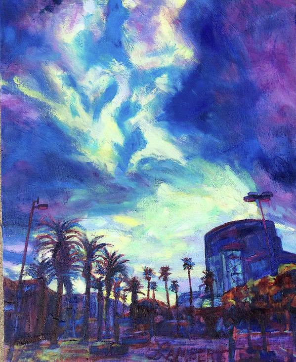 Palms Poster featuring the painting The Reveal by Bonnie Lambert