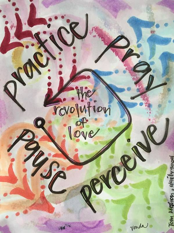 Love Poster featuring the painting The Revolution of Love by Vonda Drees