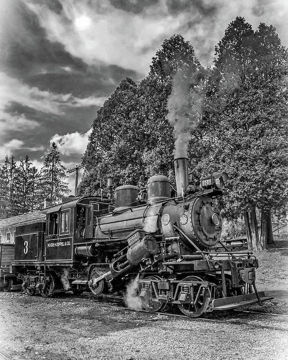 Pocahontas County Poster featuring the photograph The Rocket Bw by Steve Harrington
