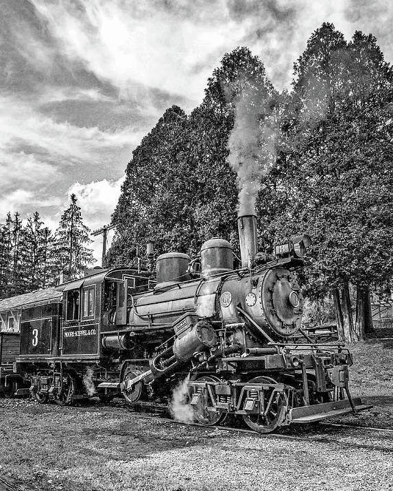 Pocahontas County Poster featuring the photograph The Rocket Monochrome by Steve Harrington