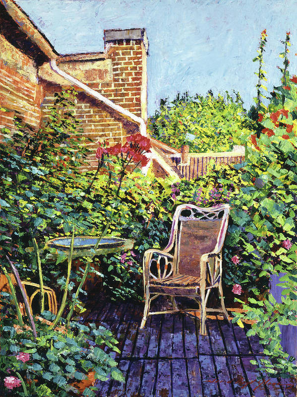 Impressionism Poster featuring the painting The Roof Garden by David Lloyd Glover