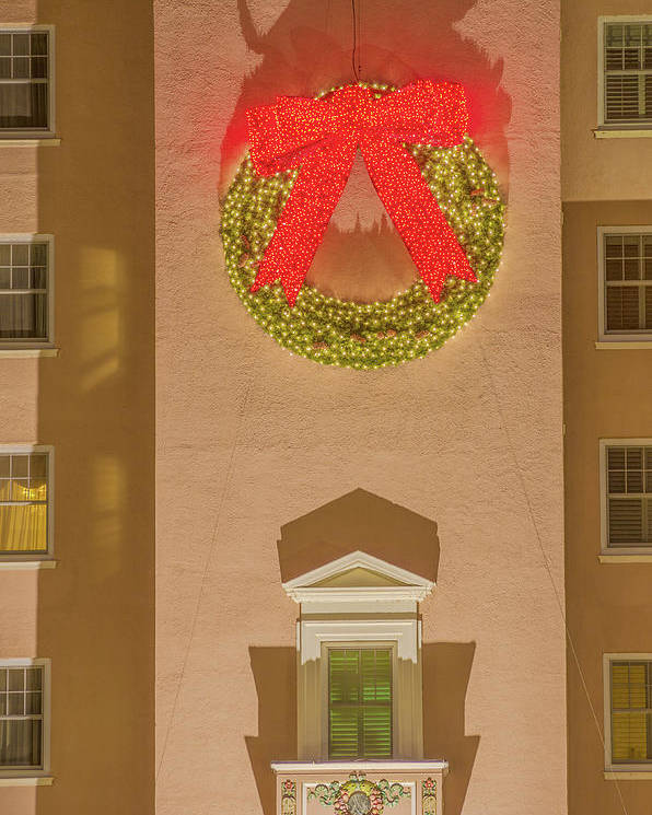 The Broadmoor Hotel Poster featuring the photograph The Scintillating Wreath  by Bijan Pirnia