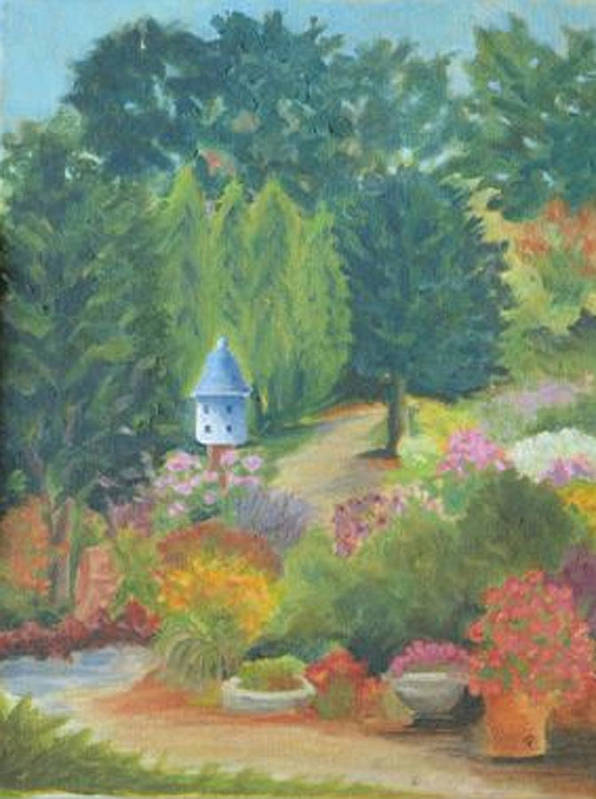 Landscape Poster featuring the painting The Secret Garden by Paula Emery