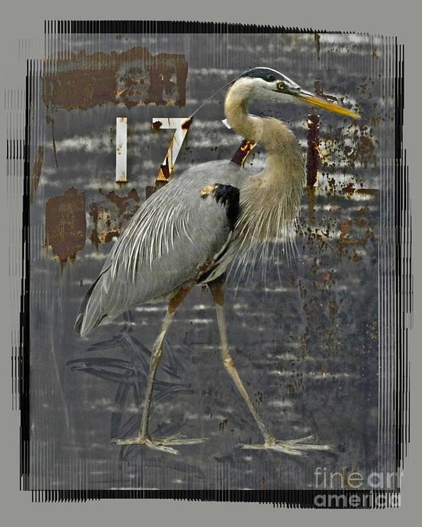 Bird Poster featuring the digital art The Sentinel by Chuck Brittenham
