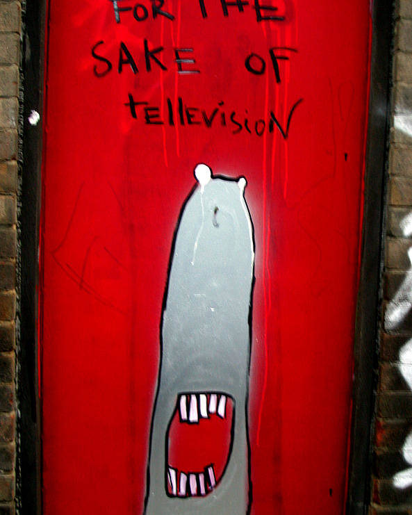 Jez C Self Poster featuring the photograph The Sharker Side Of Tv by Jez C Self