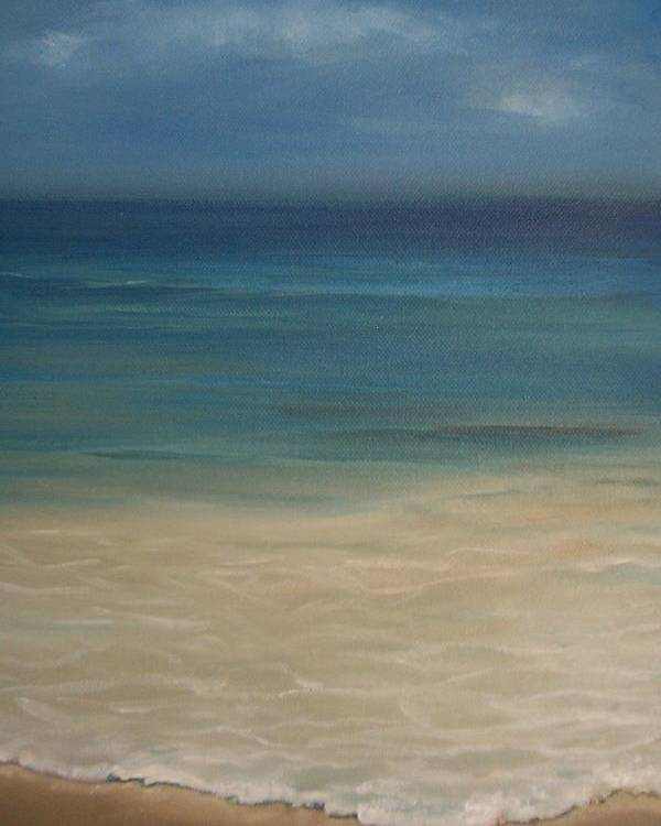 Sea Poster featuring the painting 'the Shore'' by Marina Harris