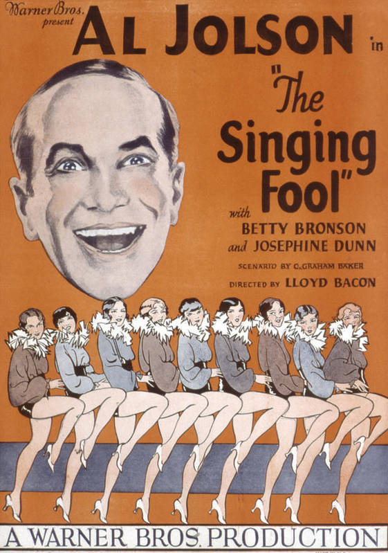 1920s Movies Poster featuring the photograph The Singing Fool, Al Jolson, 1928 by Everett