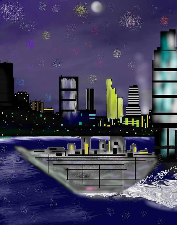 Cityscapes Poster featuring the digital art The Sky Is The Limit by Abel Padilla