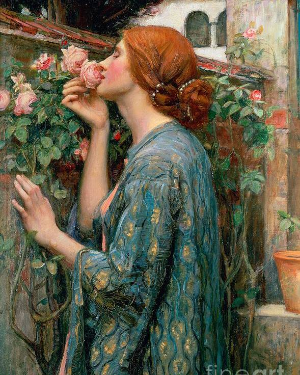 The Poster featuring the painting The Soul Of The Rose by John William Waterhouse