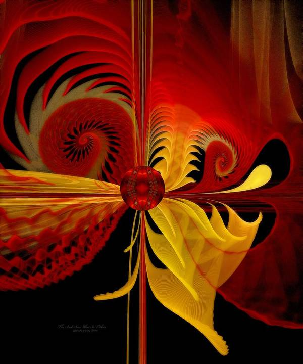Fractal Poster featuring the digital art The Soul Sees What Is Within by Gayle Odsather