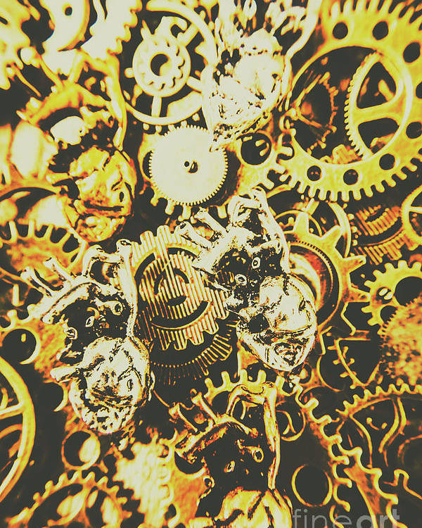 Design Poster featuring the photograph The Steampunk Heart Design by Jorgo Photography - Wall Art Gallery