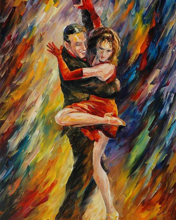 Dance Poster featuring the painting The Sublime Tango by Leonid Afremov