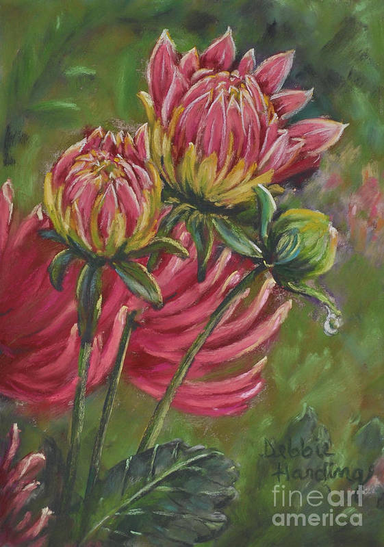 Dahlia Poster featuring the painting The Tear by Debbie Harding
