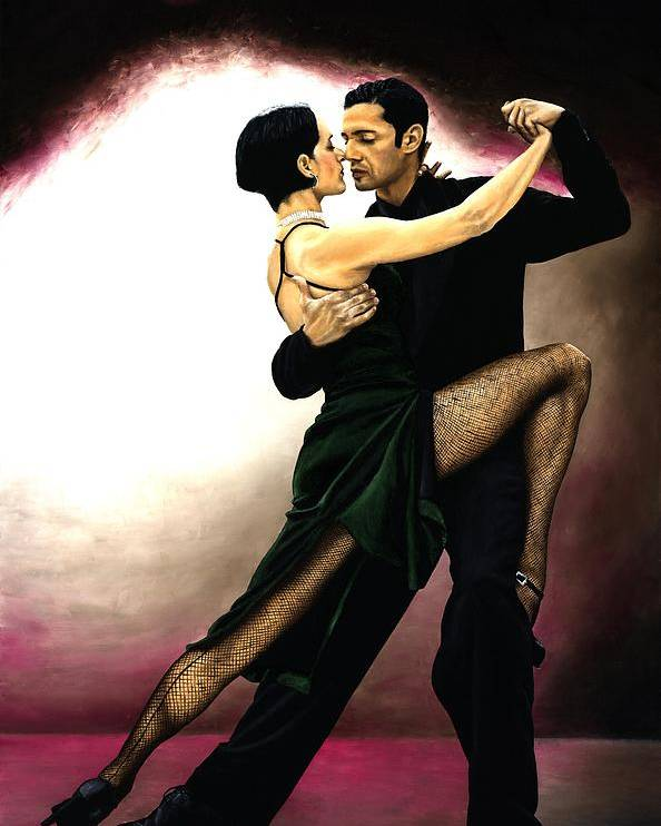 Tango Poster featuring the painting The Temptation Of Tango by Richard Young
