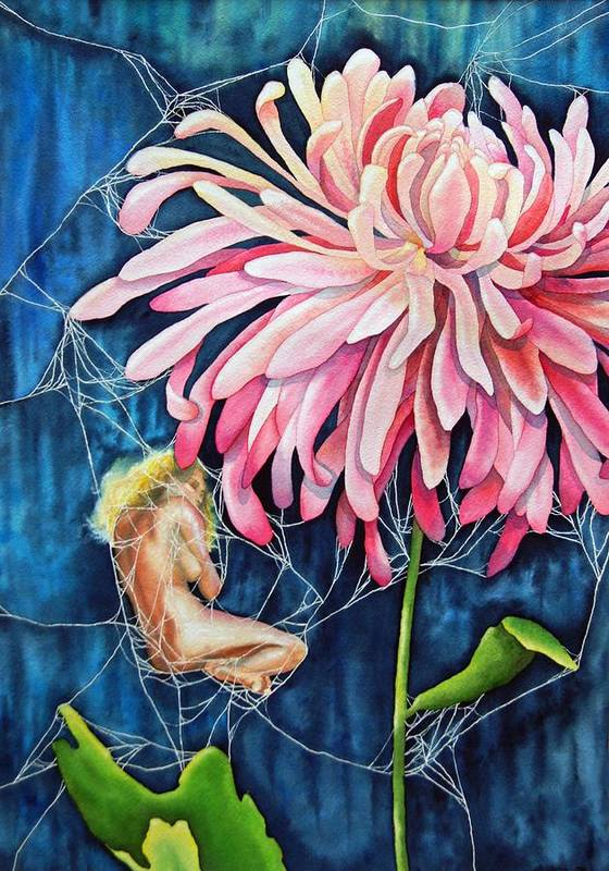 Floral Poster featuring the painting The Tender Trap by Gail Zavala