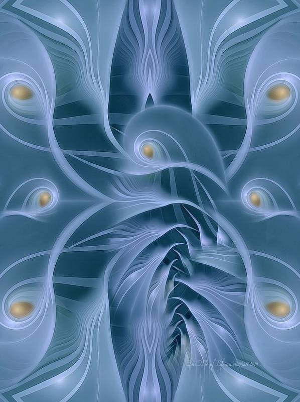 Fractal Poster featuring the digital art The Tide Of Life by Gayle Odsather