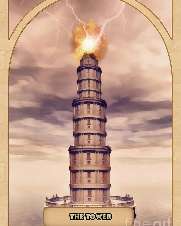 Magic Poster featuring the digital art The Tower by John Edwards