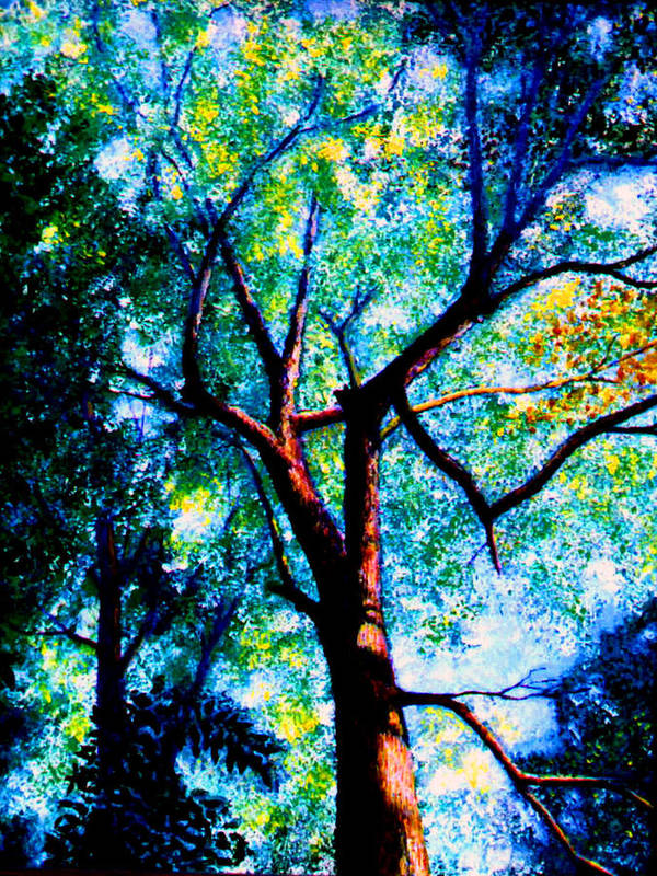 Landscape Poster featuring the painting The Tree by Stan Hamilton