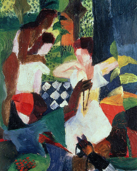 The Poster featuring the painting The Turkish Jeweller by August Macke