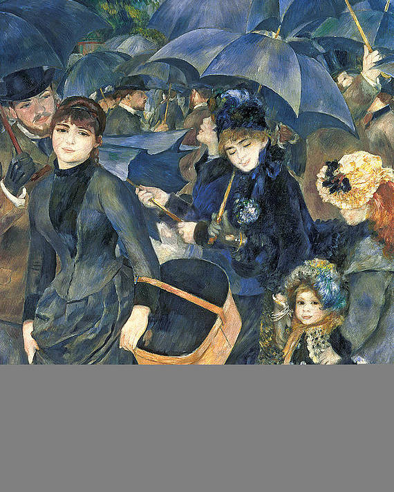 The Poster featuring the painting The Umbrellas by Pierre Auguste Renoir