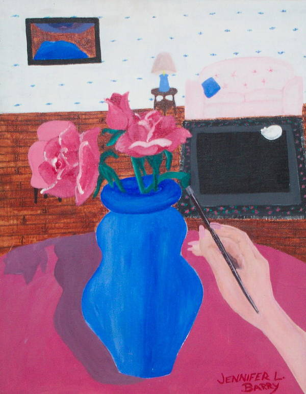 Vase Poster featuring the painting The Vase by Jennifer Hernandez