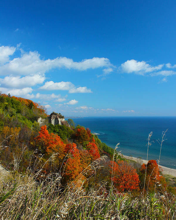 Scarborough Poster featuring the photograph The View - Scarborough Bluffs by Spencer Bush