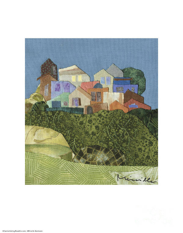 The Village Poster featuring the painting The Village by Mireille Barmann