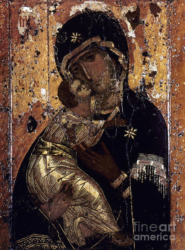 12th Century Poster featuring the photograph The Virgin Of Vladimir by Granger